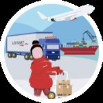 shipping-kvinde-ikon